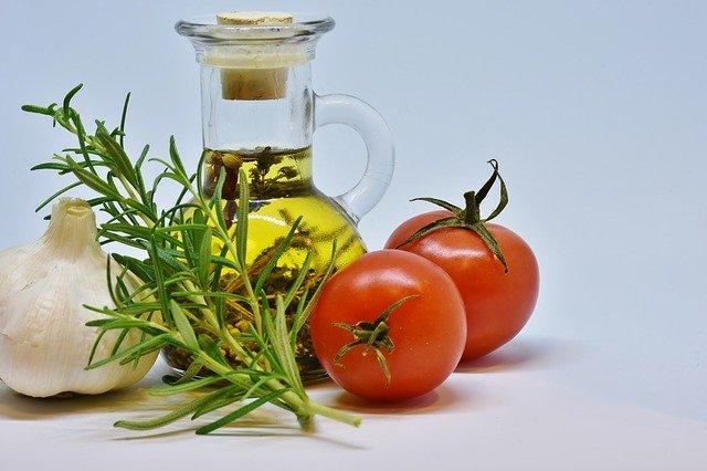 olivový olej a potraviny