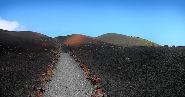 sopka na kanárských ostrovech
