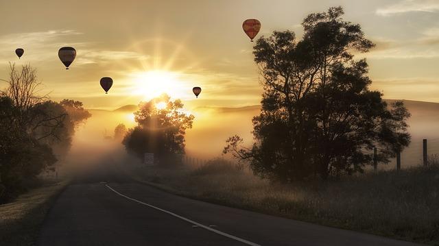 horkovzdušný balóny